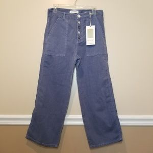 NWT Zara Cotton & Linen Culottes Blue size 2